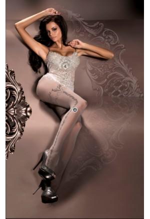 Punčocháče s postranním vzorem Ballerina